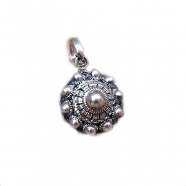 Zeeuwse knop clip hanger sterling zilver