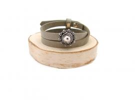 Zeeuwse knop leren armband