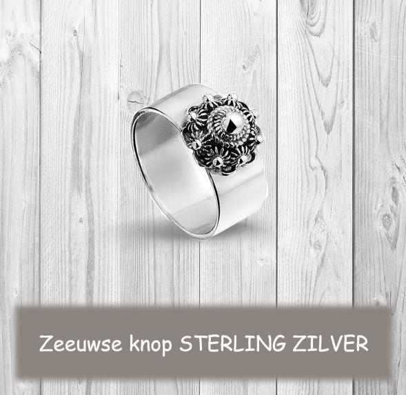 Zeeuwse knop sieraden in echt zilver