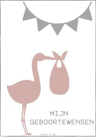 Mijn geboortewensen | grijs/roze (5)