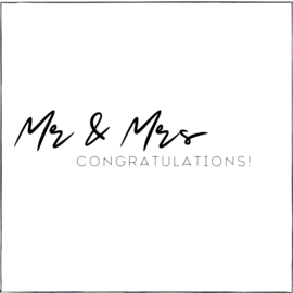 Mr & Mrs congrats! (vk)