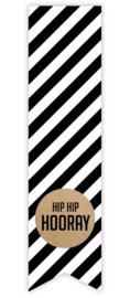 Sticker label 'hip hop hooray'