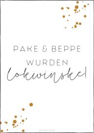 Kaart | Pake & Beppe wurden, lokwinske!