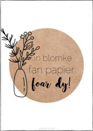Kaart | In blomke fan papier, foar dy!
