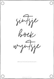 Tuinposter | sintsje, boek, wyntsje