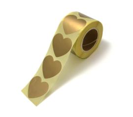 Stickers golden heart
