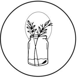 23 | Muurcirkel | vaas met bloemen | 30 cm