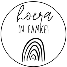Sticker - hoera in famke!