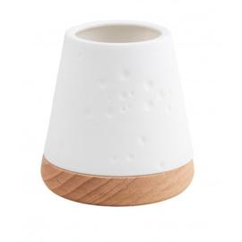 Räder - lantern small - hout/porselein | dots