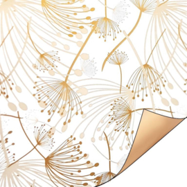 Kadopapier | berenklauwen | goud/wit| 50 cm