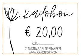 Kadobon € 20