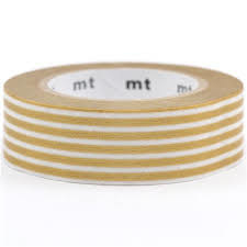MT washi tape goud/streep
