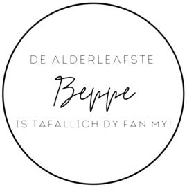Muurcirkel   S   De alderleafste Beppe is tafallich die fan my!