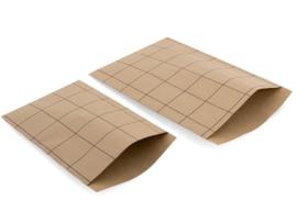 Kadozakken / kraft-grid 17x25 cm