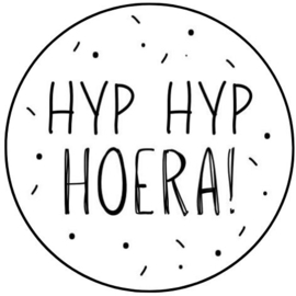 Sticker - hyp hyp hoera!