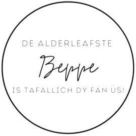Muurcirkel   S   De alderleafste Beppe is tafallich die fan us!