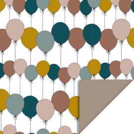 Kadopapier | ballonnen 30 cm