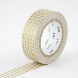 MT washi tape - goud ruitje