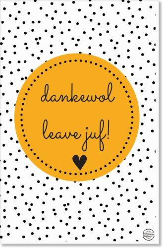 Mini dankewol leave juf!