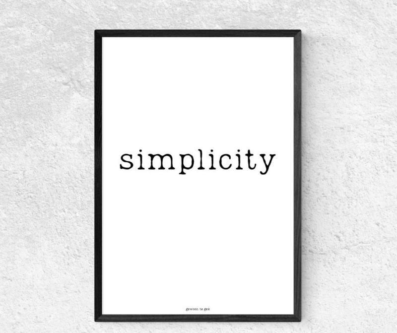 Poster A4 - Simplicity