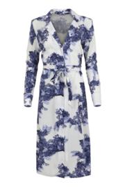 Maicazz jurk Seda, blue leaf