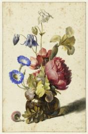 Bloemen in een fles Dirck de Bray (40x60cm)
