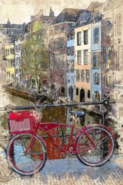 Utrecht fiets (50x70cm)