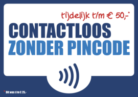 Contactloos pinnen zonder pincode (29x21cm)