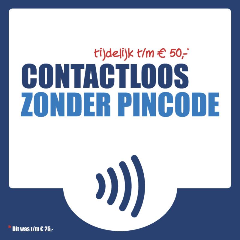 Contactloos pinnen zonder pincode (7x7cm)