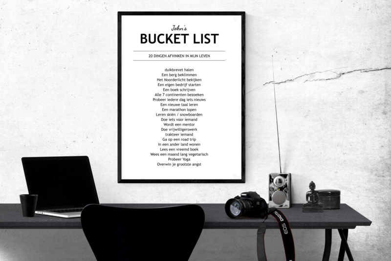 Persoonlijke Bucket list