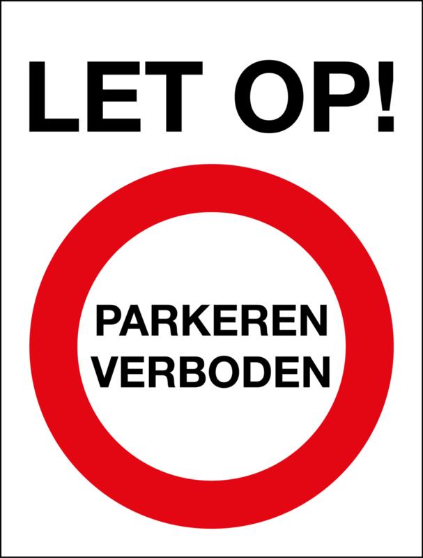 Parkeren verboden (11x14,5cm)