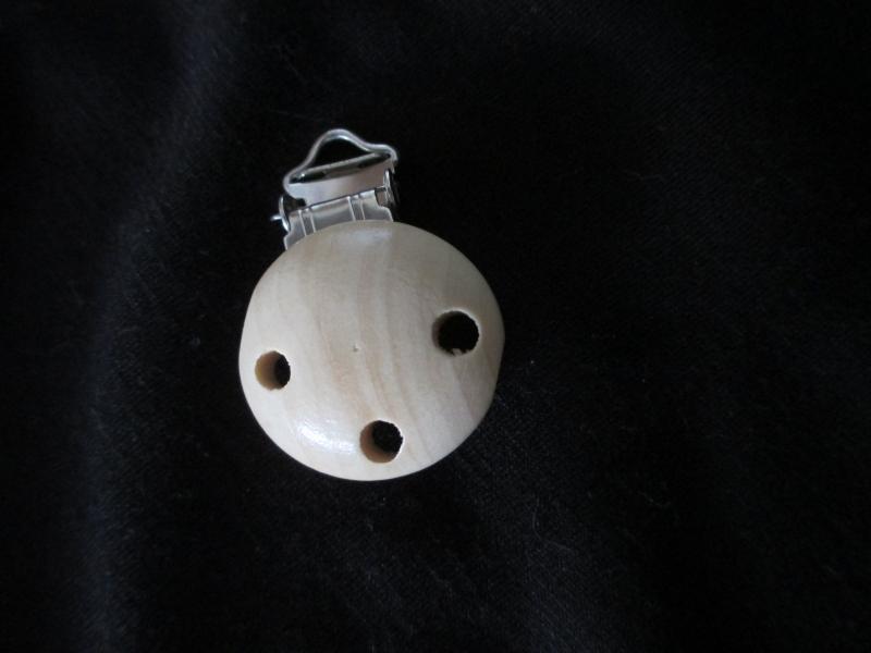 Houten speenclip 37 mm doorsnede