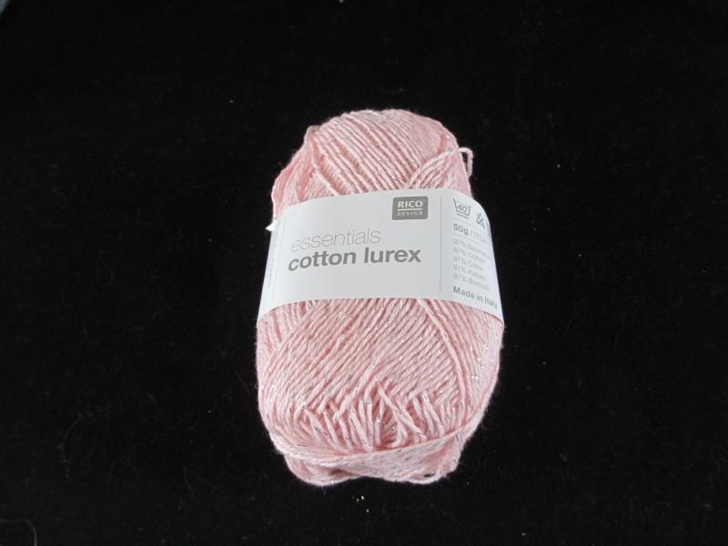 Rico essentials cotton lurex licht rose 003