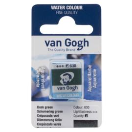van Gogh Water Color napje 630  'Schemering Groen'