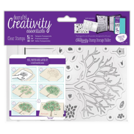 Docraft clear stamps 'Build a Tree'
