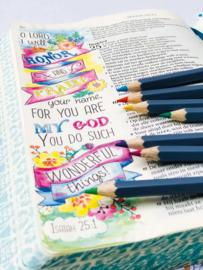 Aquarelpotloden voor biblejournaling