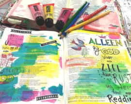 Bible journaling pasje