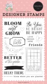'Bloom & Grow' designer stamps