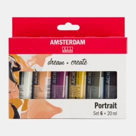 Amsterdam acrylverf 'Portrait'