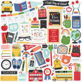 'I love School' element stickers