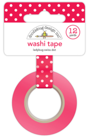 Washi tape 'Stippels Roodwit'