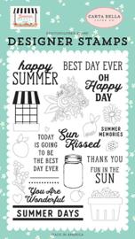 'Happy Summer' designer stamps