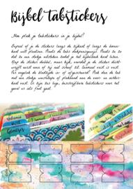 Bijbel tabstickers 'Watercolor Pastel