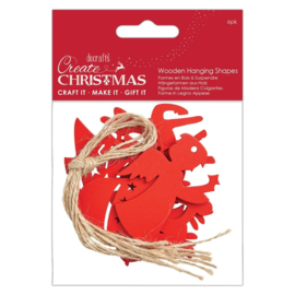 Create Christmas 'Wooden hanging shapes'