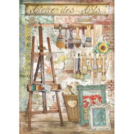 Rice paper 'Atelier des Arts Easel'