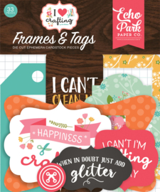 'I love Crafting' Frames and tags