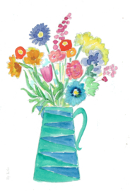 Watercolor it yourself 12. 'Kan met bloemen'