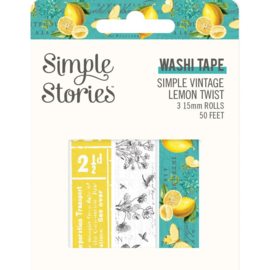 Washi Tape 'Vintage Lemon Twist'