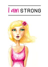Vouwkaartje 'I am strong/ precious/ special