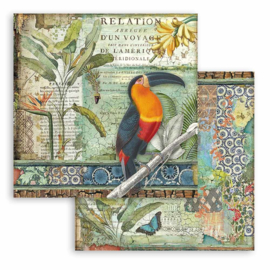 Paper sheet 'Amazonia Parrot'